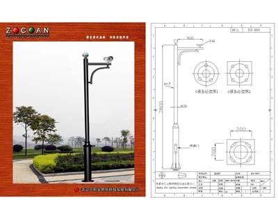 支架北京摄像机立杆太阳能灯