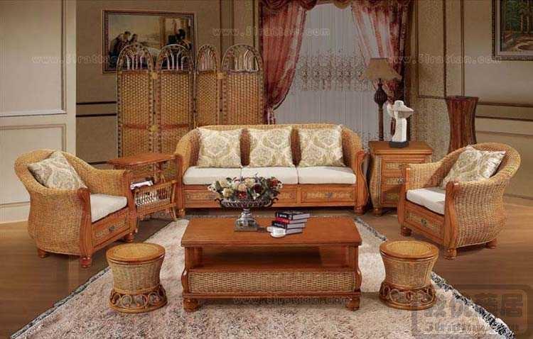 藤编沙发,沙发价格,客厅家具沙发