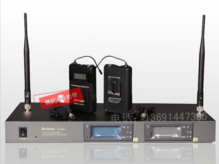 ARTTOO安度HS-990领夹式手持无线一拖二麦克风演唱话筒