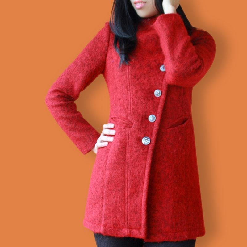 毛呢大衣/环保抗起球海藻呢羊绒外套/毛呢精品风衣面料