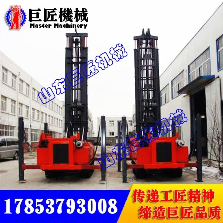CJD-500履带式气动水井钻机 各种水井钻机设备价格对比